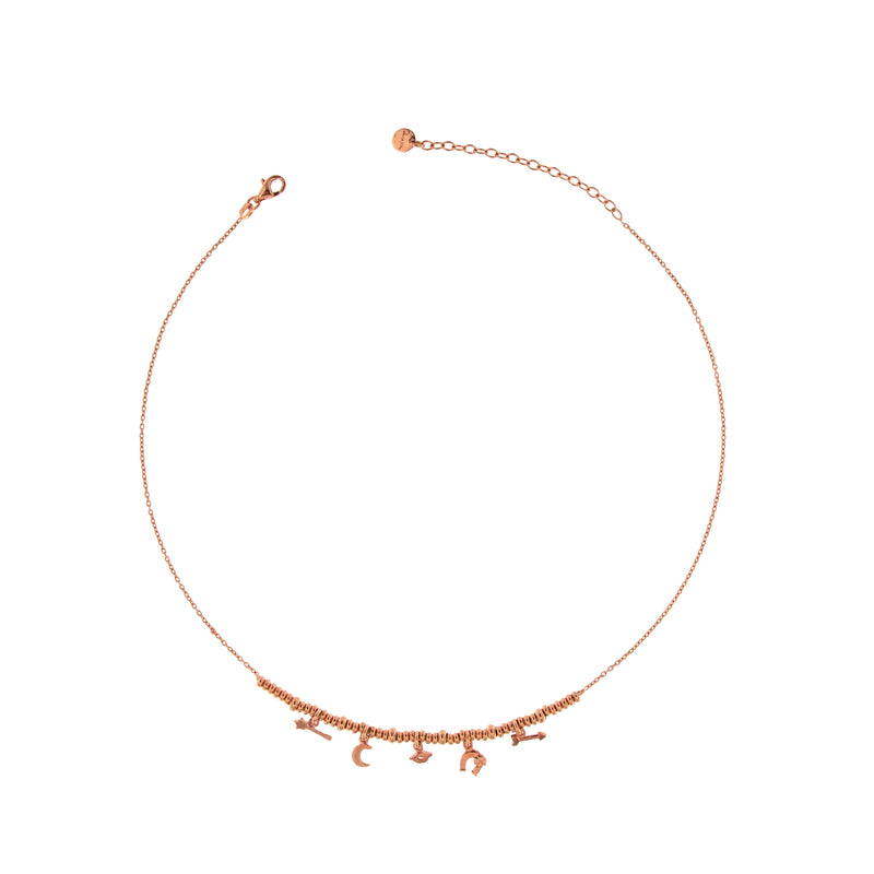 Choker with Five Subjects and Micro Circles