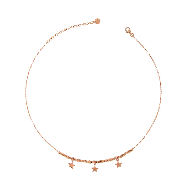 Choker with Three Stars and Micro Circles