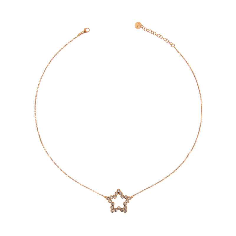 Chain Choker with Zircons - Star