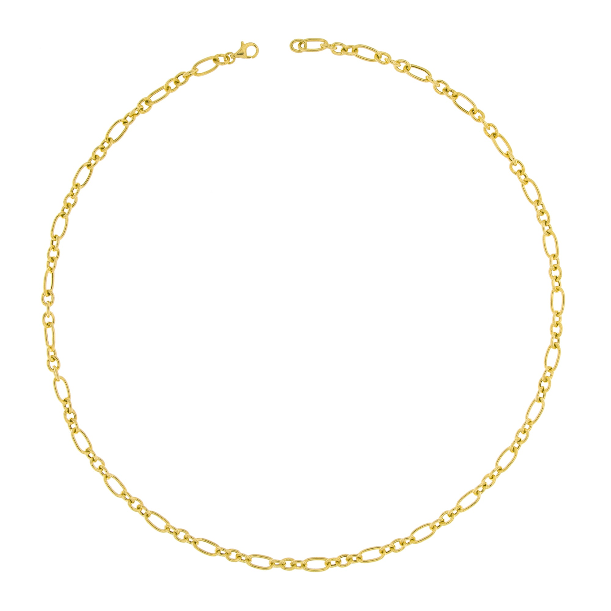 Chokers - Necklace With Vintage Alternating Cable Chain  - 2 | Rue des Mille