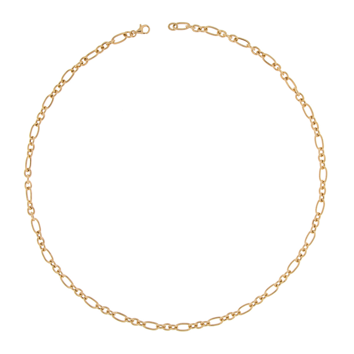 Chokers - Necklace With Vintage Alternating Cable Chain  - 1 | Rue des Mille