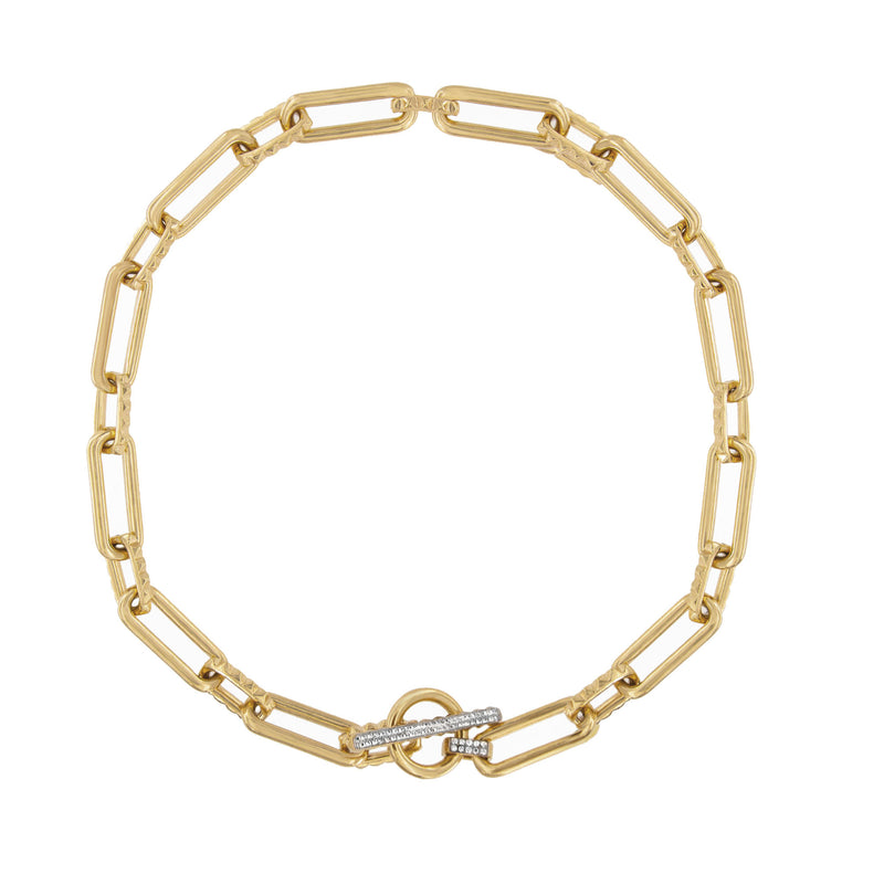 Choker Link Chain With T-Bar