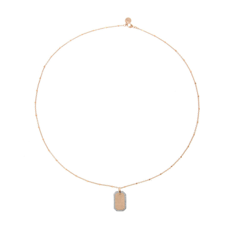 Chocker stud texture medal - chain and dot