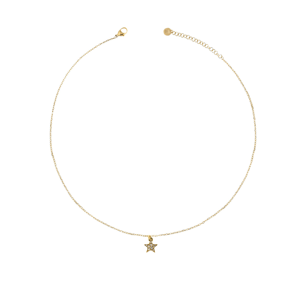Chokers - Choker chain and star zircons - 1 | Rue des Mille