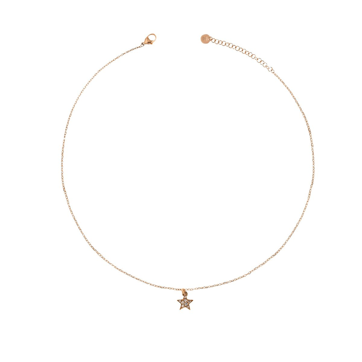 Chokers - Choker chain and star zircons - 2 | Rue des Mille