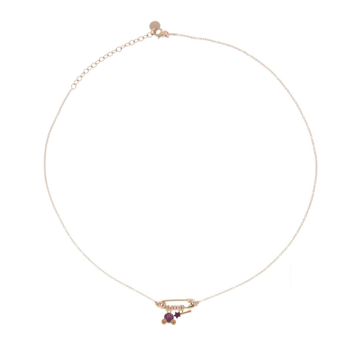 Chokers - Double Pendant and Brooch Choker - Carriage/Wand - 1 | Rue des Mille