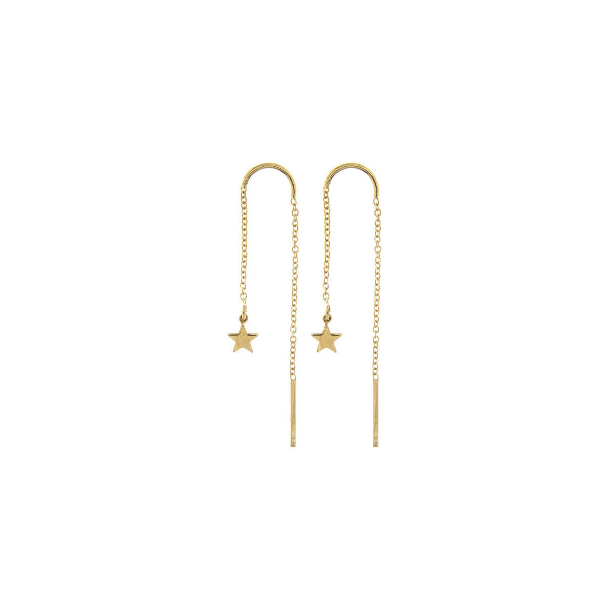 Earrings - Earring chain rounded subject - star - 2 | Rue des Mille
