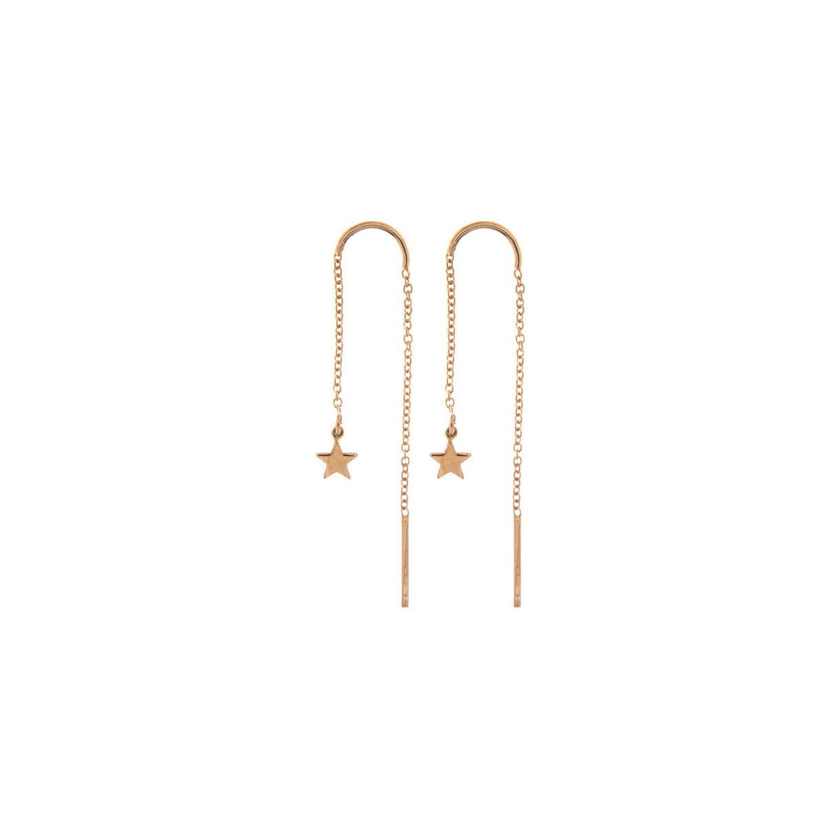 Earrings - Earring chain rounded subject - star - 1 | Rue des Mille