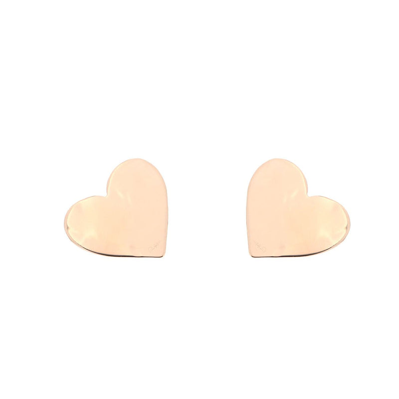 Goldenfall Heart Stud Earrings