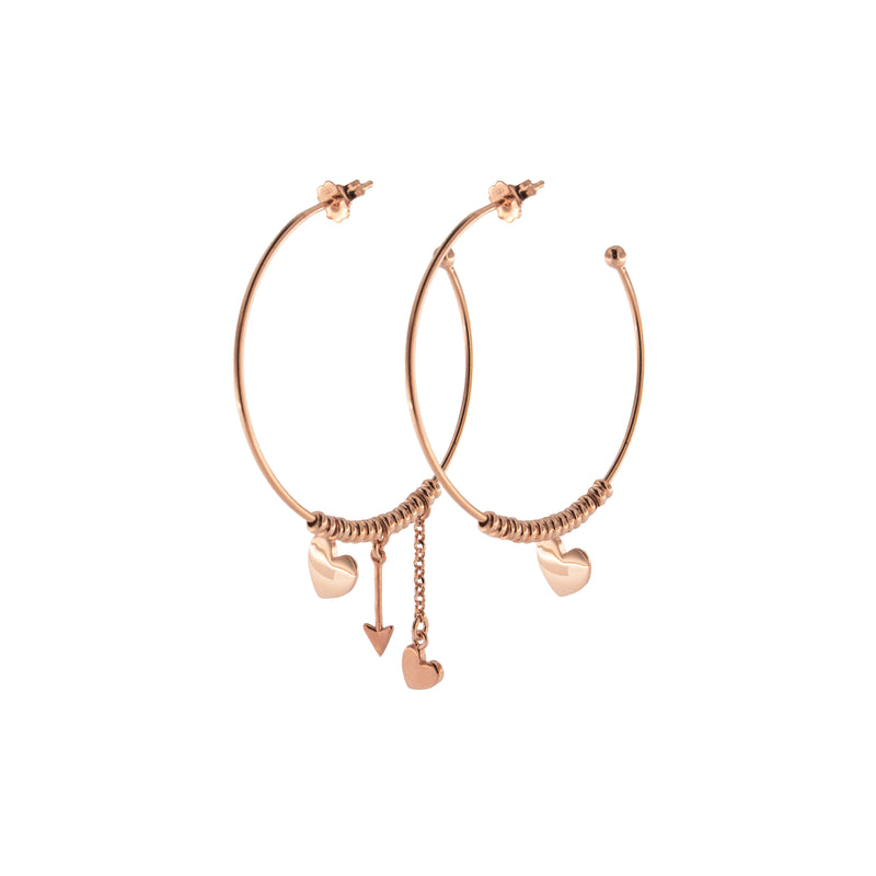 Hoop Earrings With Micro Circles/Hearts/Arrow