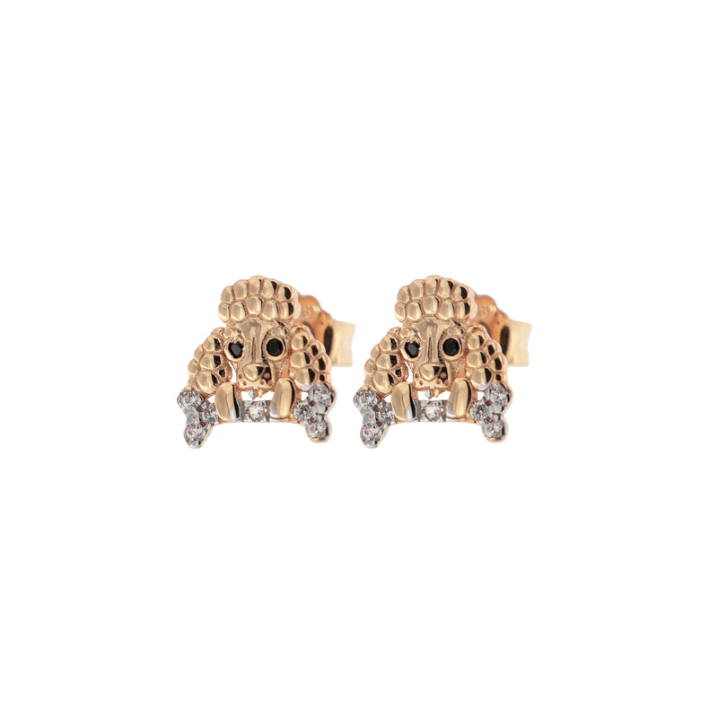 Zirconia Earrings With Poodle