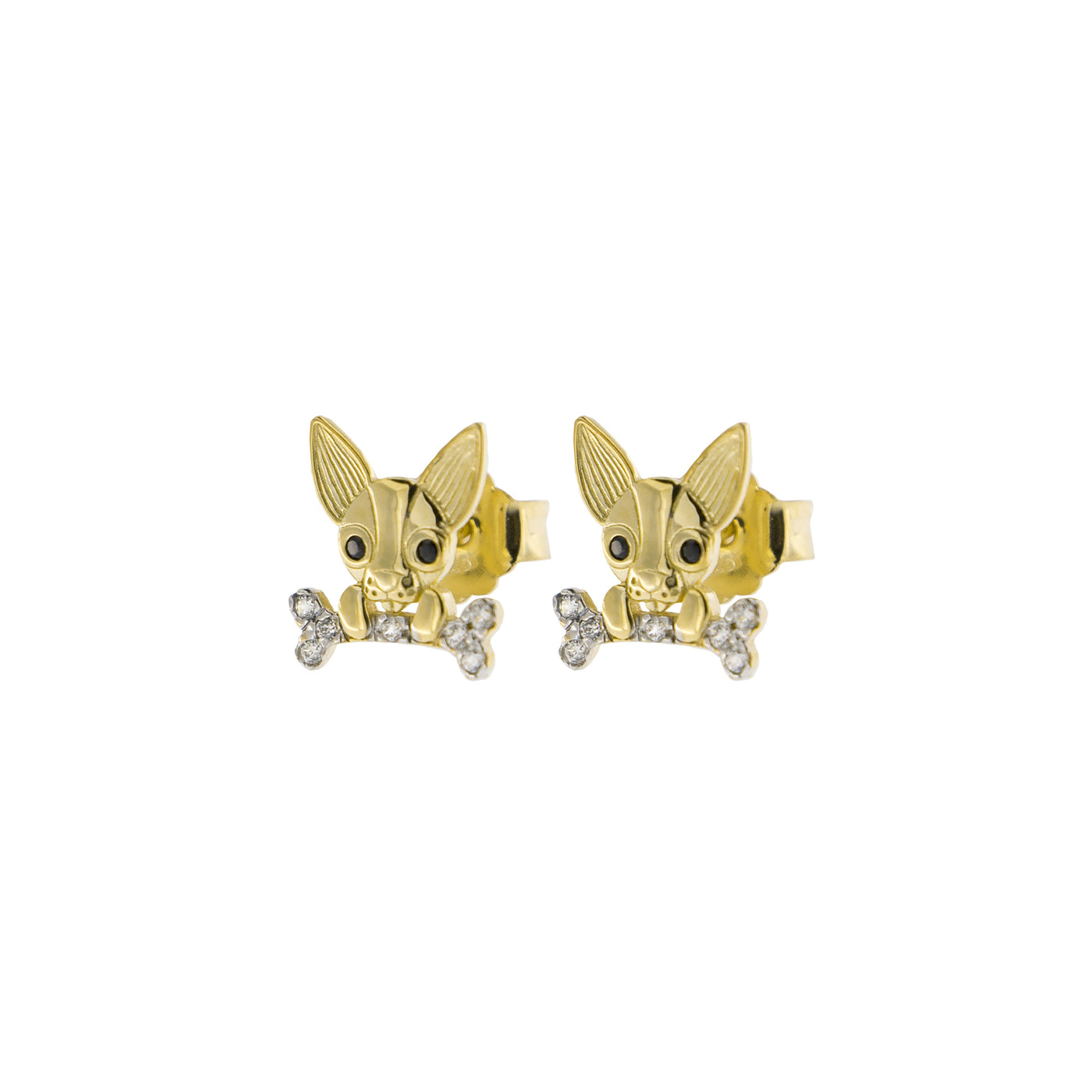 Earrings - Zirconia Earrings With Chihuahua  - 2 | Rue des Mille