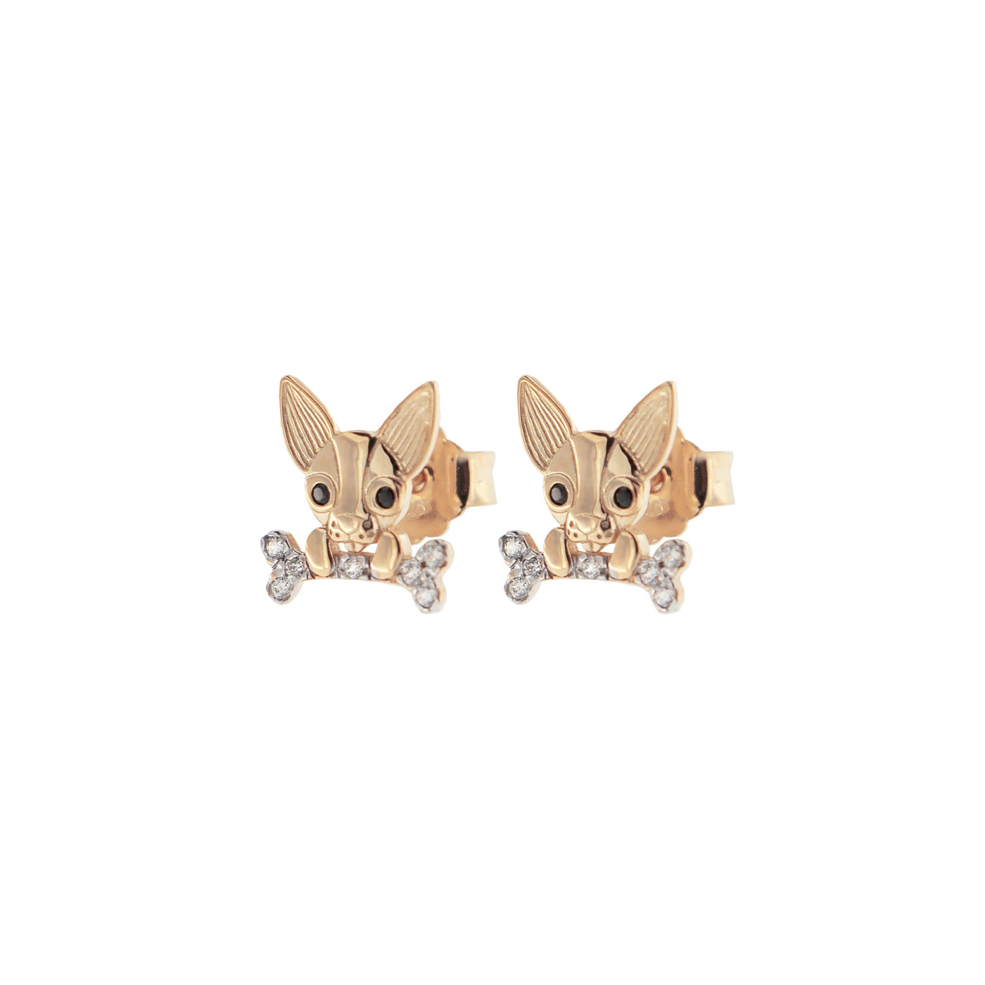 Earrings - Zirconia Earrings With Chihuahua  - 1 | Rue des Mille