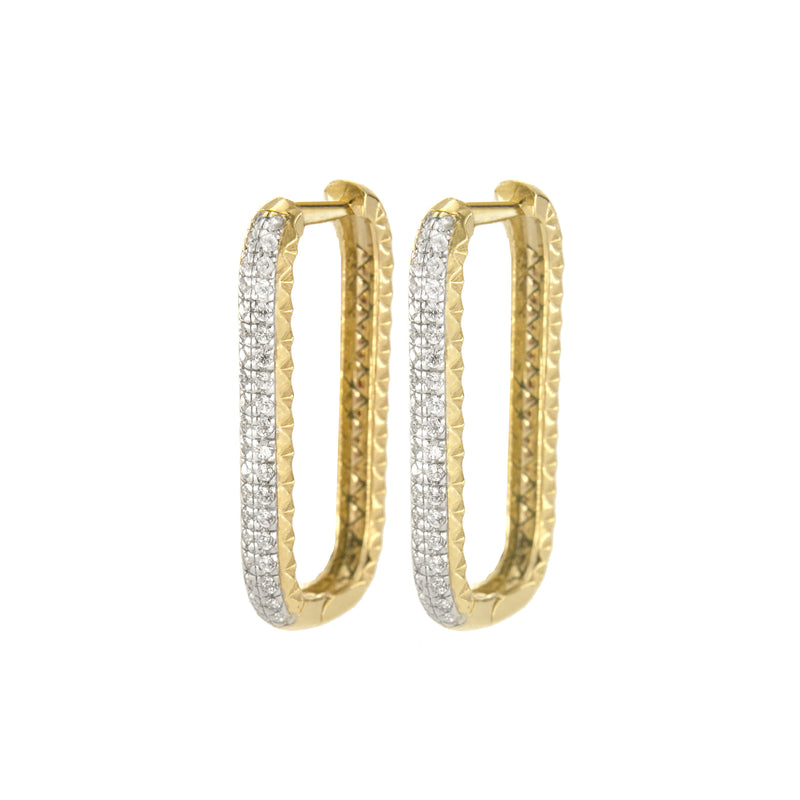 Earrings Bold Rectangular Shape