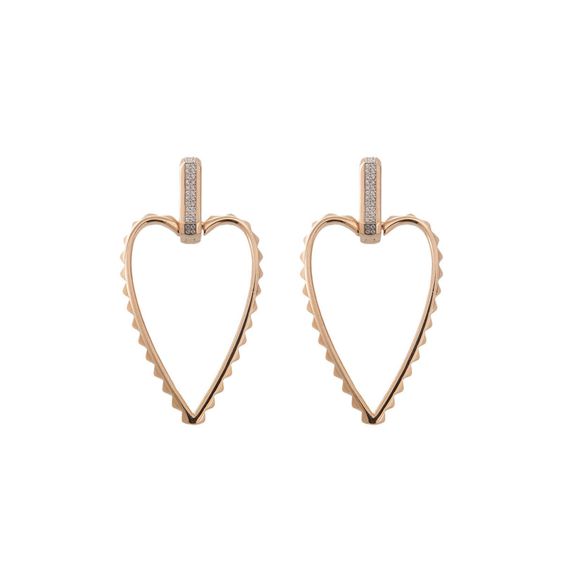 Earrings Big Bold Heart