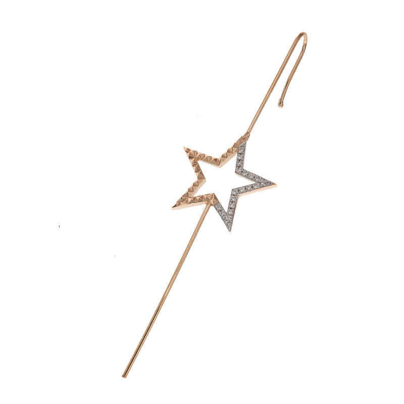 "Single earring ""hook"" star"