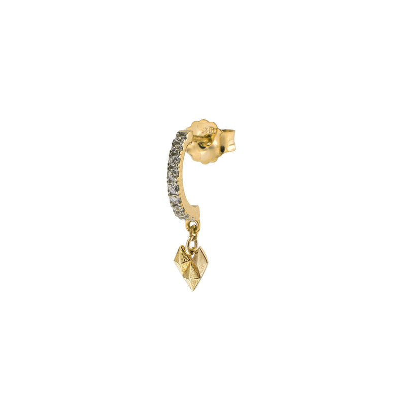 Single earring - Crazy heart and studs