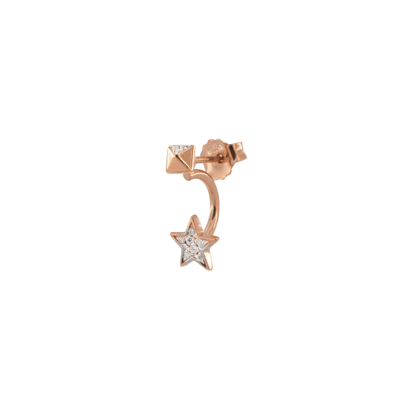 Earrings - Mono Earring with Star and Stud - 1   Rue des Mille