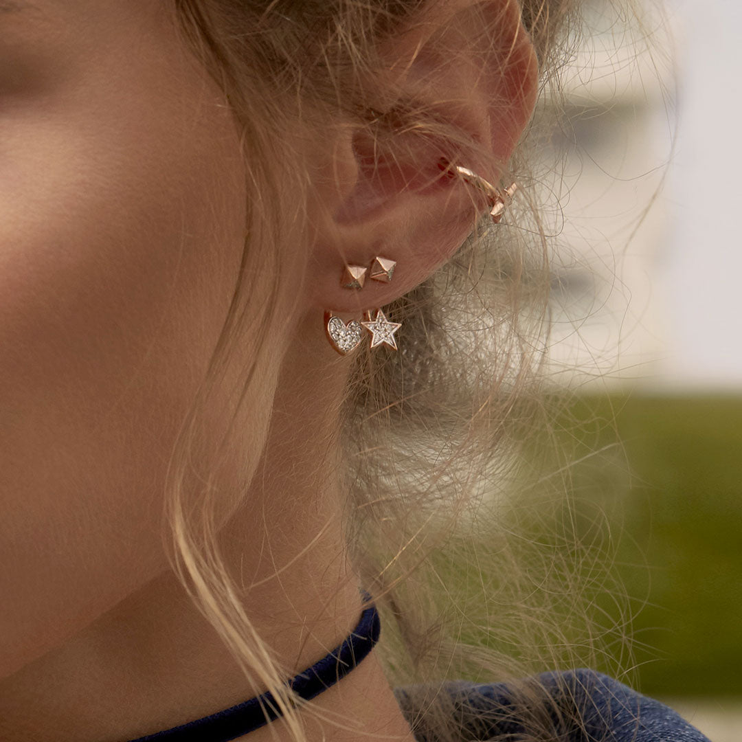 Earrings - Mono Earring with Star and Stud - 2   Rue des Mille