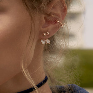 Earrings - Mono Earring with Star and Stud - thumbnail - 2   Rue des Mille