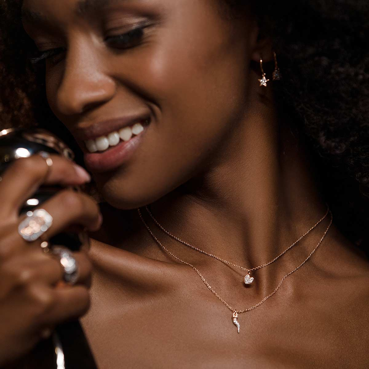 Chokers - Choker chain and heart zircons - 3 | Rue des Mille