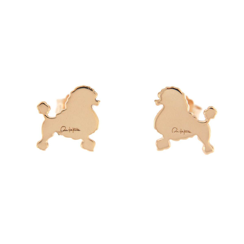 Stud Earrings Poddle Puppy
