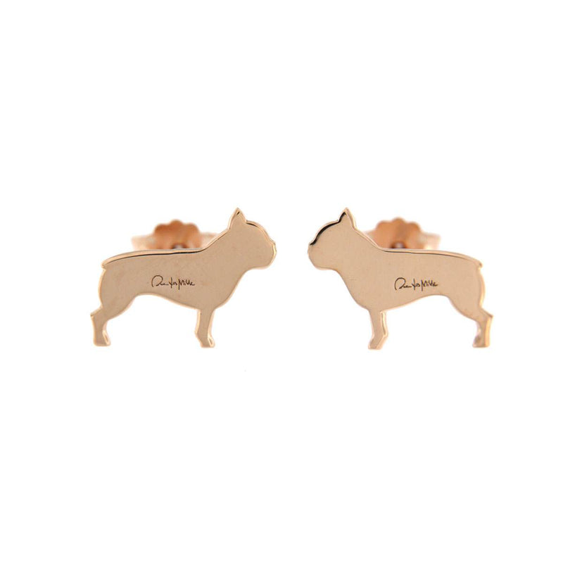 Stud Earrings Bulldog Puppy