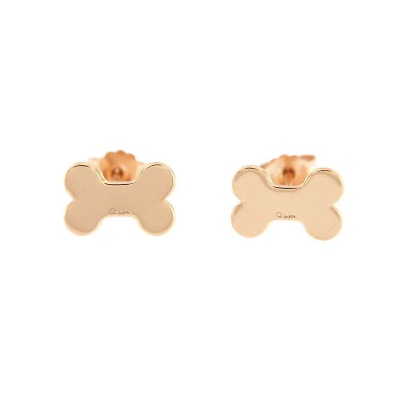 Stud Earrings Puppy with Bone
