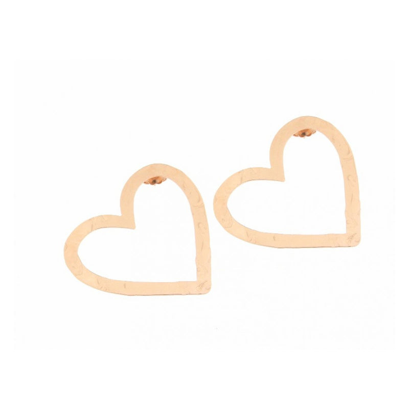 Stud Earring with Openwork Heart