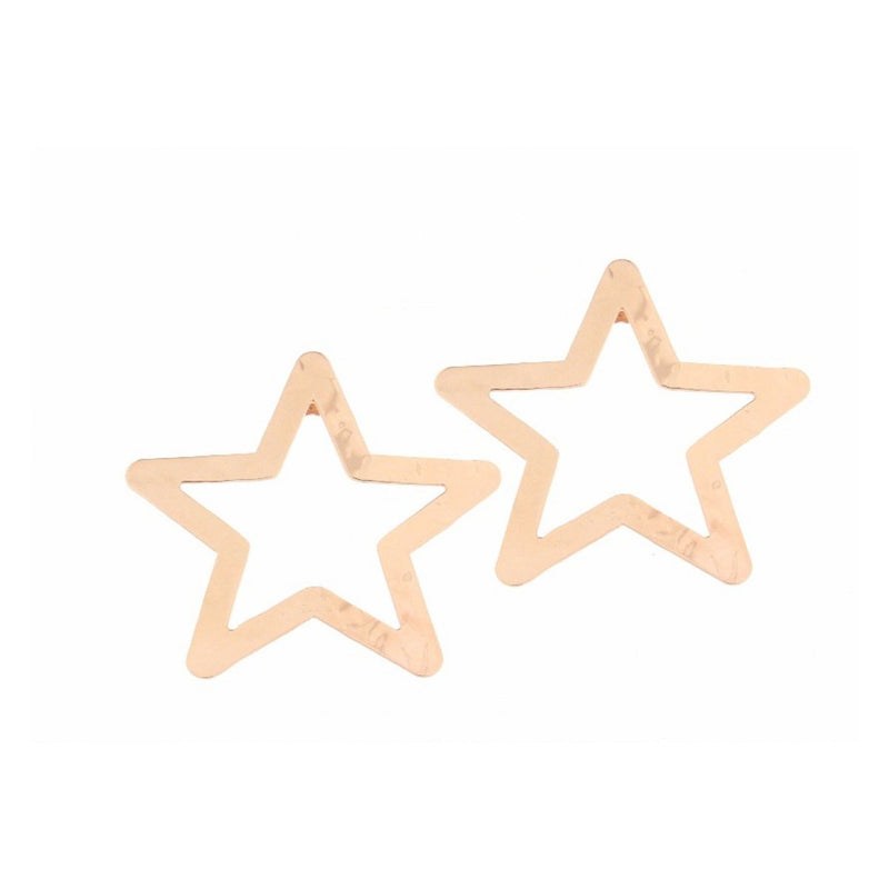 Stud Earring with Openwork Star
