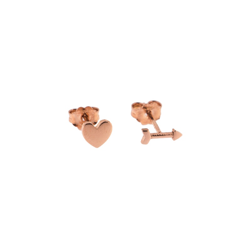 Stud Earrings Heart/Arrow