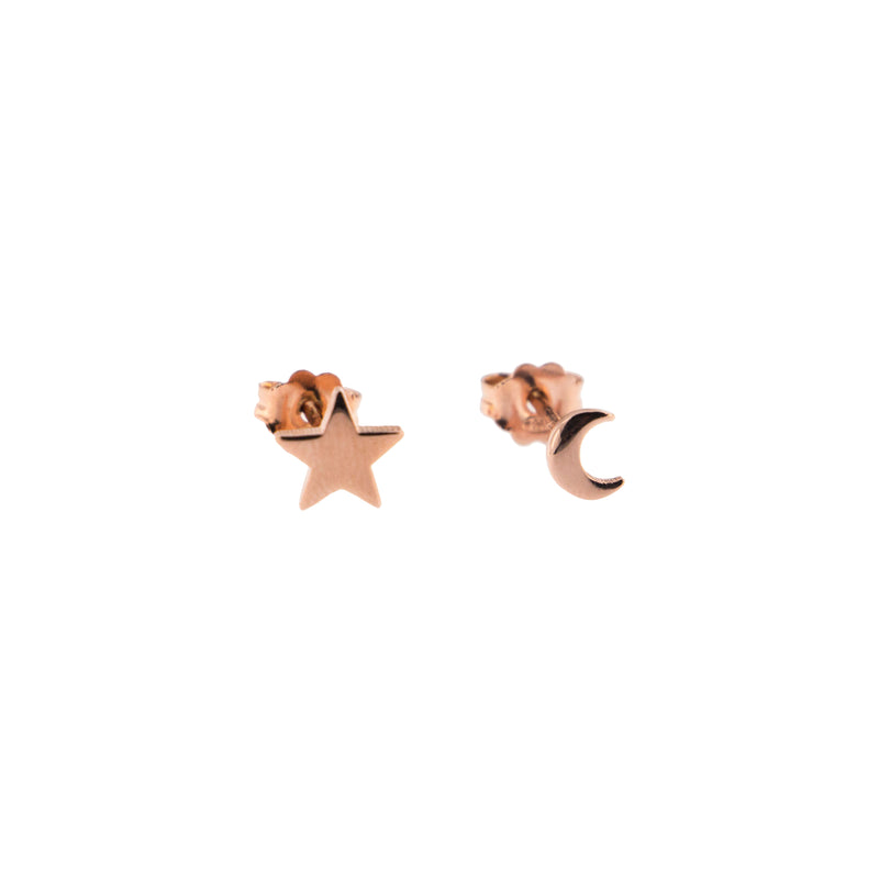 Stud Earrings Star/Moon