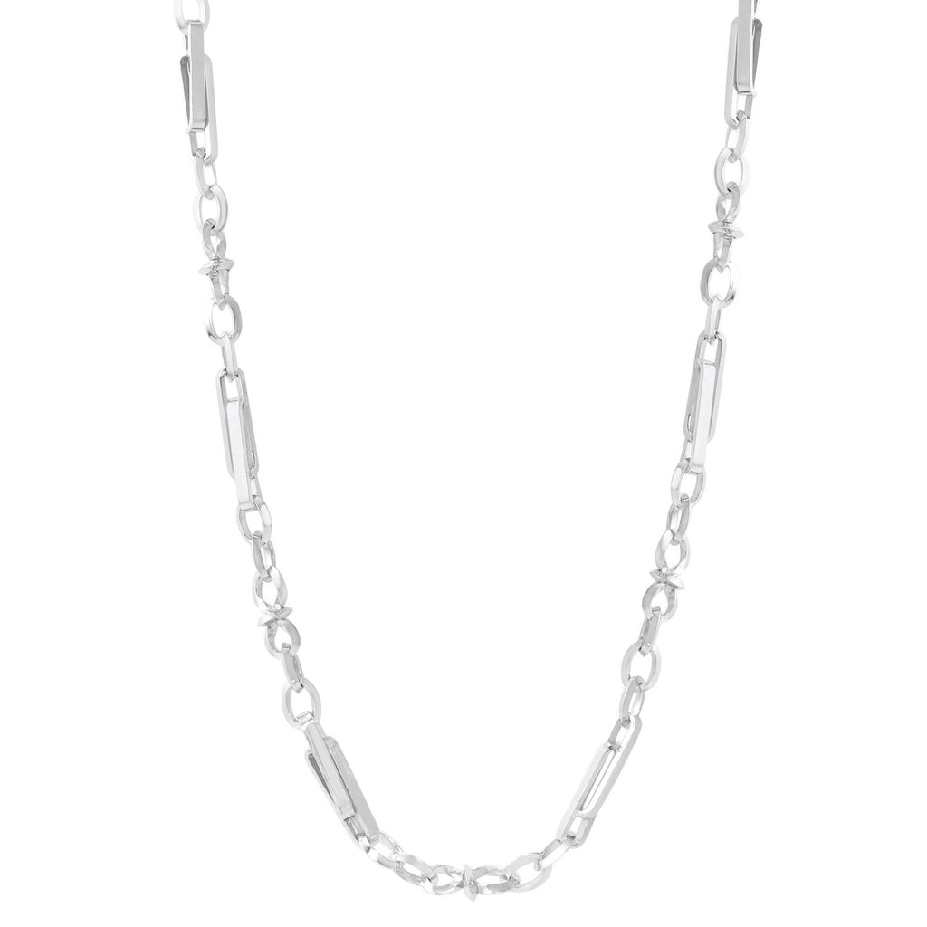 "Sterling Silver 2mm Chain Necklace, 24""-28"""