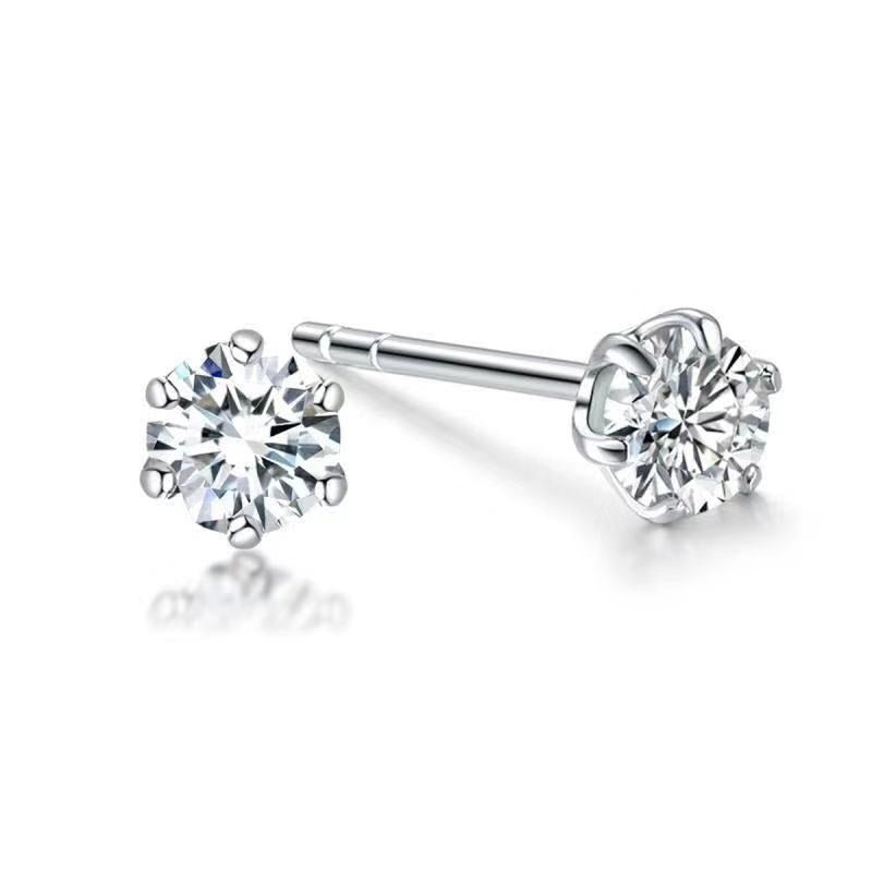 REEMARK™ 18k White Gold Diamond Solitaire Stud Earrings (1/5 cttw, I-J Color, I1-I2 Clarity)