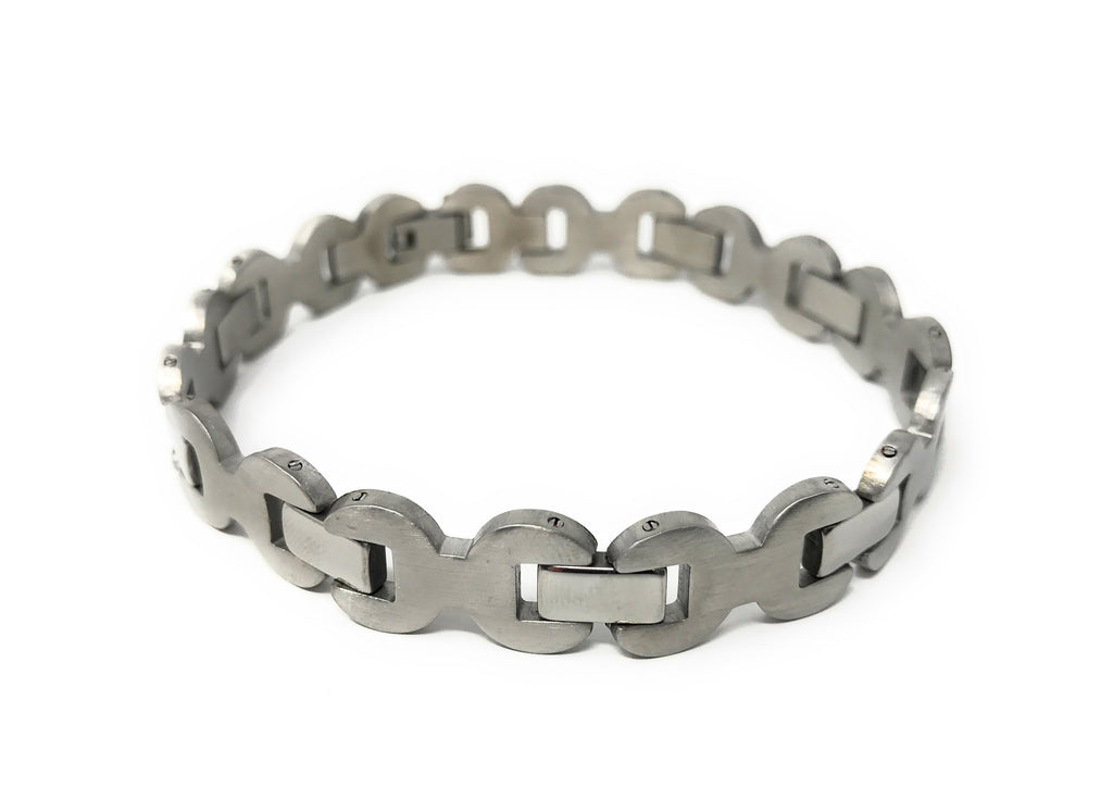 Men's Stainless Steel Wrench Link Bracelet