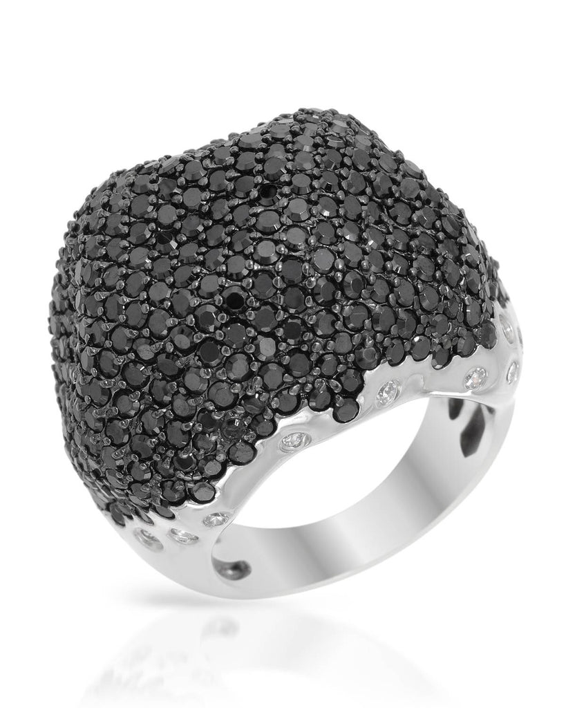 Black Pave Cubic Zirconia 925 Ring
