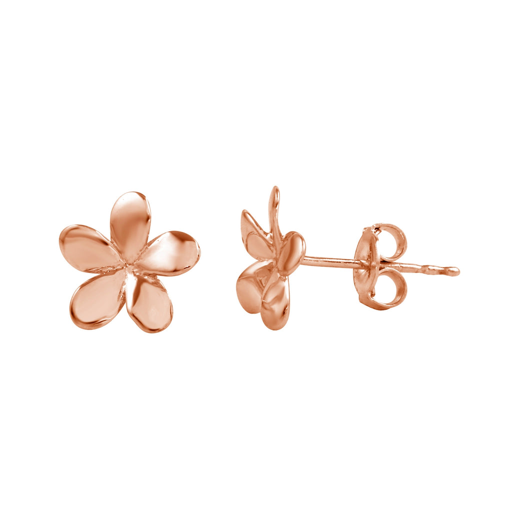 14k Gold Flower Stud Earrings - Bee Jewels