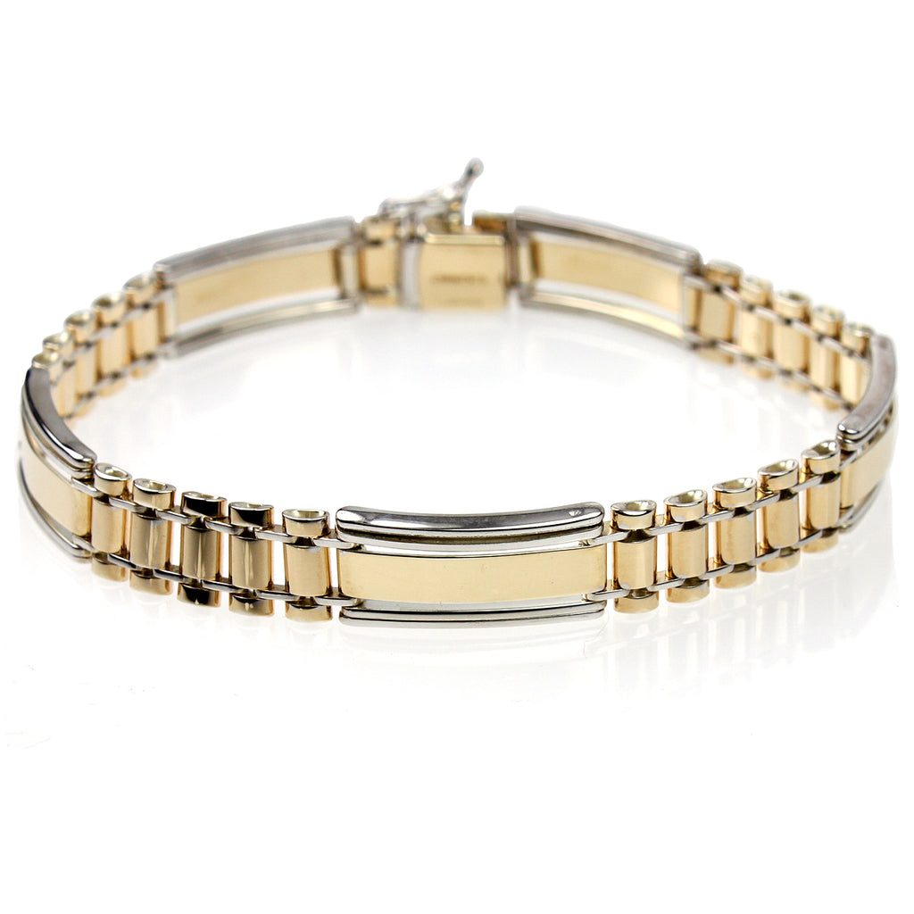 Men's 14k Gold-Bonded Sterling Silver 9mm Bracelet, 8""