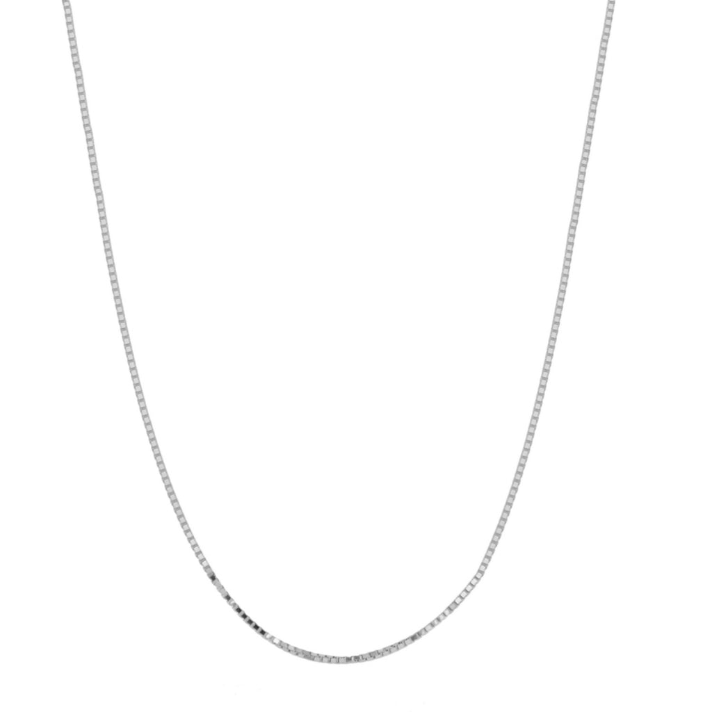 Women's 14k White Gold .7mm Box Chain Necklace