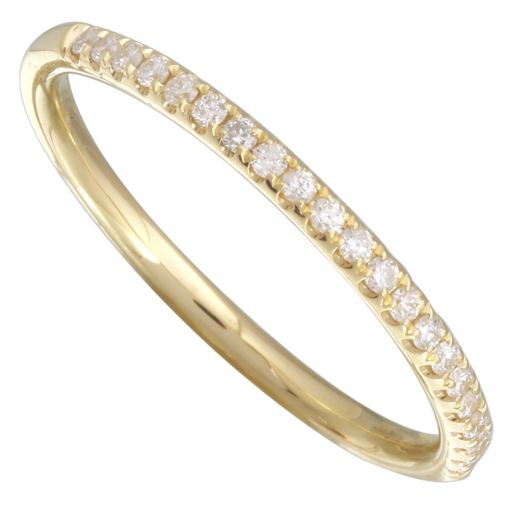 14k Yellow Gold Diamond Pave Ring (1/10 cttw, H-I Color, I1-I2 Clarity)