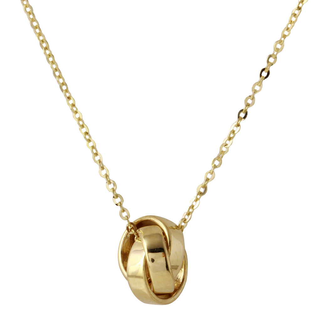 "14k Gold Love Knot Pendant Necklace, 18"" - Bee Jewels"