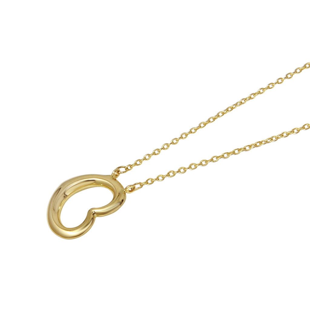 14k Yellow Gold Heart Pendant Necklace, 17""