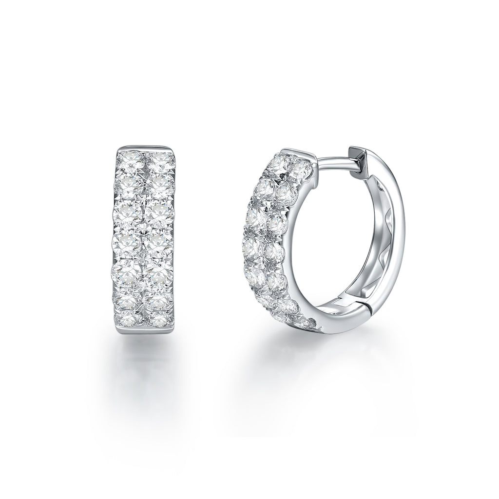 REEMARK™ 18k White Gold Diamond Hoop Earrings (3/4 cttw, I-J Color, I1-I2 Clarity), 11.5mm Diameter