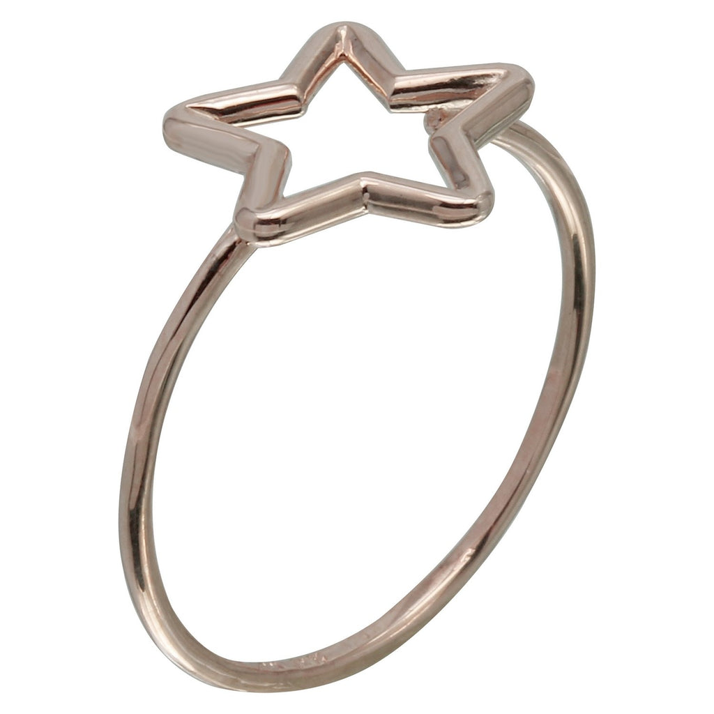 14k Gold Italian Star Ring - Bee Jewels