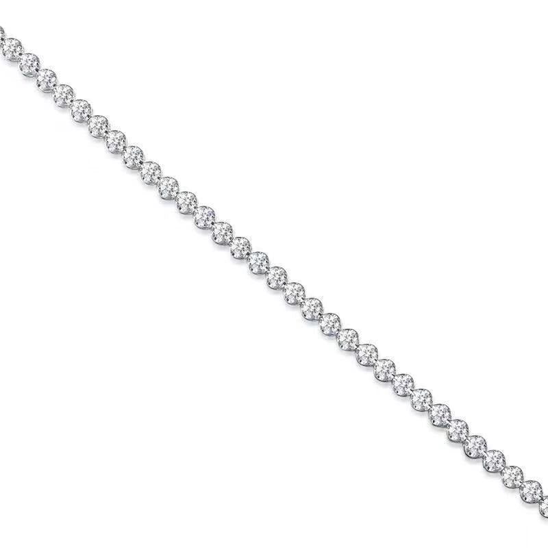REEMARK™ 18k White Gold 2mm Diamond Strand Tennis Bracelet (1 cttw, I-J Color, I1-I2 Clarity), 7""