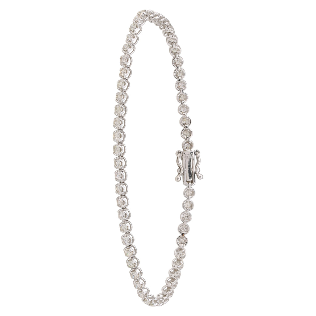 REEMARK™ 18k White Gold 3mm Diamond Strand Tennis Bracelet (2 cttw, I-J Color, I1-I2 Clarity), 7""