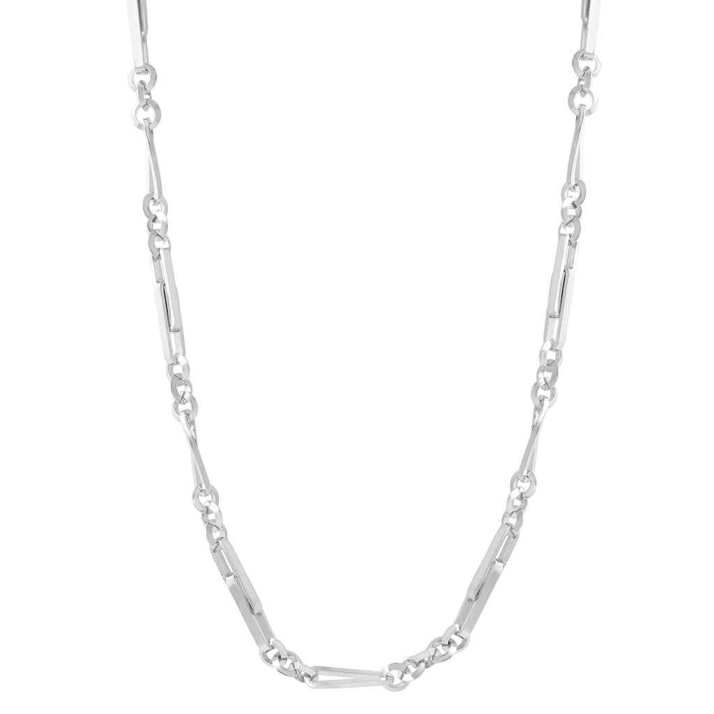 "Men's Sterling Silver 2mm Chain Necklace, 24""-28"""