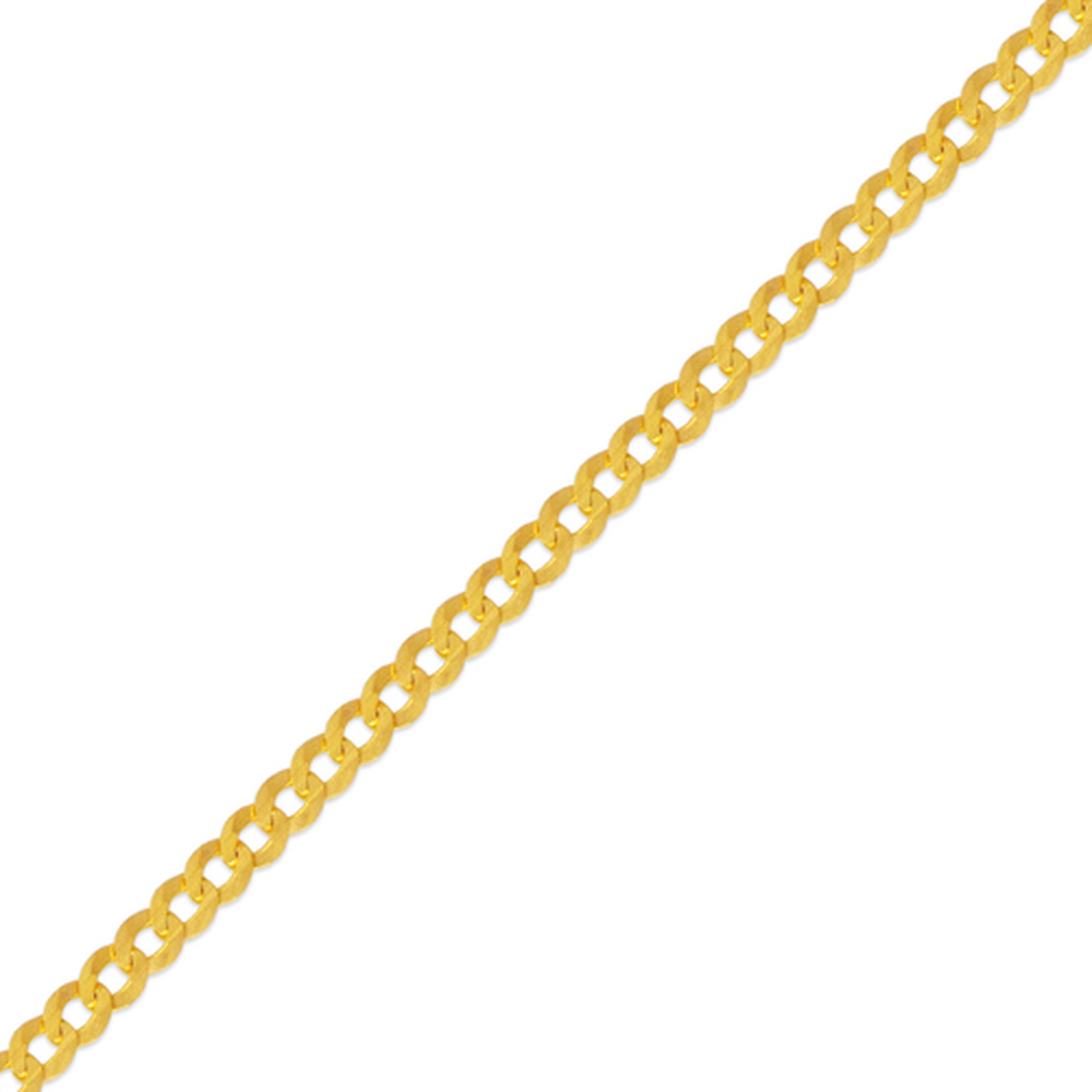 Men's 14k Yellow Gold 2.2mm Cuban Curb Light Chain Necklace