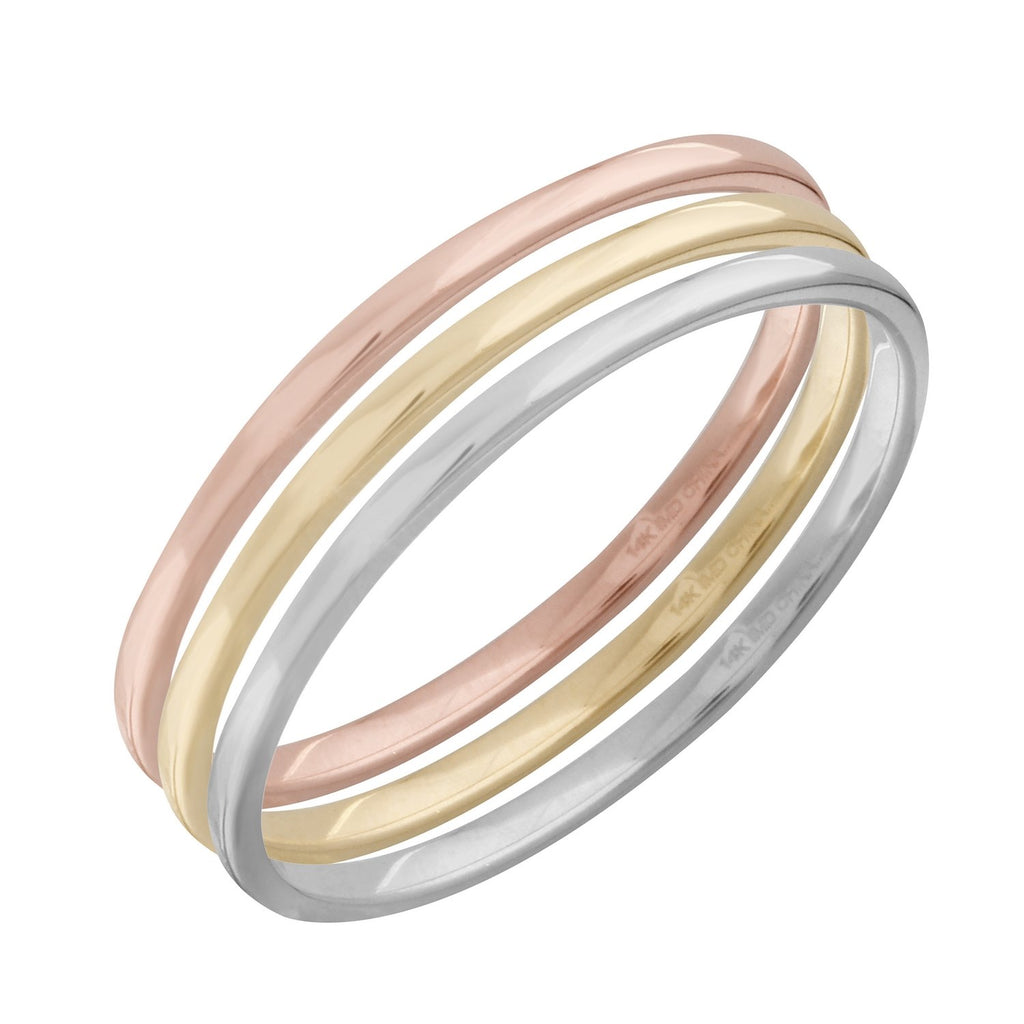 Women's 14k Gold Plain Band Stackable Ring