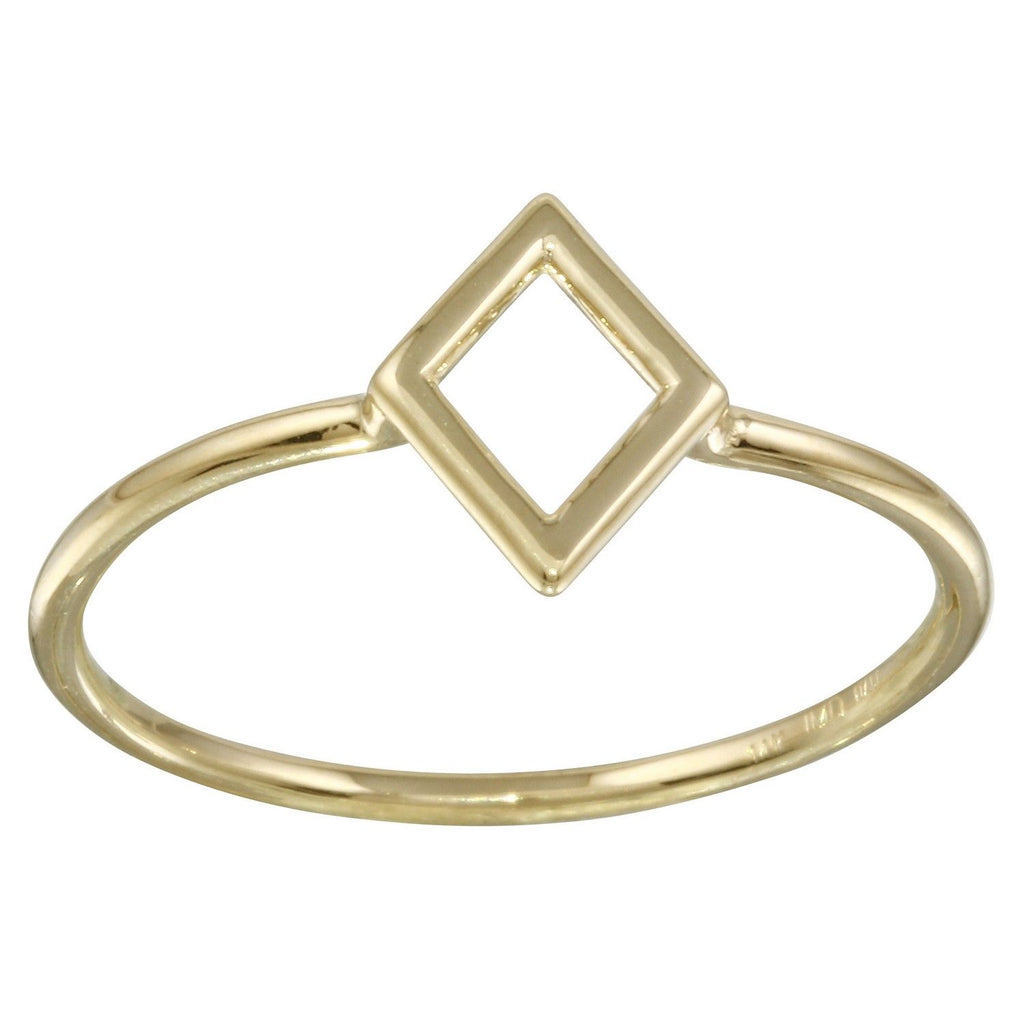 14k Yellow Gold Italian Marquise Ring, Size 7